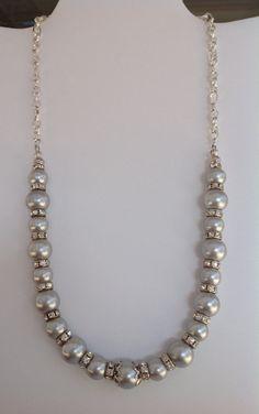Collar cadena, perlas y separadores