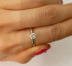 Quarter Carat Diamond Engagement Ring 0.25 Ct by Luxinelle $499