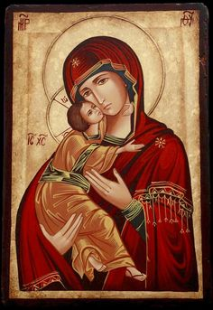 Theotokos (Romanian). Mother of God with Child