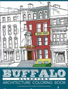 Color in Buffalos historic architecture to reduce stress and increase mindfulness. This brand-new all-ages coloring book is designed from pen