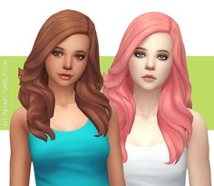 Aveira's Sims 4, Wildspit's Angelic Hair V2 - Recolor **Updated...