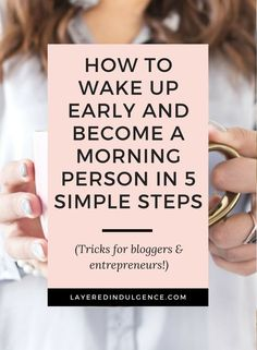 Wondering how to become a morning person? Check out my tips on creating an ideal routine to increase productivity throughout the day. Morning Person, Morning People, Morning Habits, Morning Routines, Evening Routine, How To Start A Blog, How To Make, Good Habits, Healthy Habits