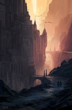 quibblingluna:  The Citadel by   Andreas Rocha