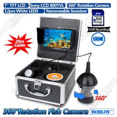"""366.49$  Watch now - http://ali0d3.worldwells.pw/go.php?t=32760523087 - """"Free shipping!BOBLOV CCD 20M/64ft 7"""""""" LCD 360 degree Rotation Fish Finder Underwater Fishing DVR Video Camera"""""""