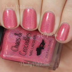 Chaos & Crocodiles Tropical Candy Flowers | Once Upon A Unicorn Collection | Peachy Polish #pink