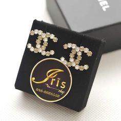 ต่างหู Chanel Earrings Honeycomb CC GHW 2.2cm. ของใหม่พร้อมส่ง‼️ - Iris Shop