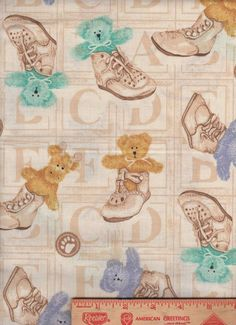 Boyds Bears Baby Shoes Giraffe nursery ABC's fabric curtain topper Valance #Handmade