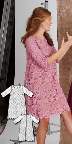 Lace Overlay Dress Burda Mar 2016 #107  Pattern $5.99: http://www.burdastyle.com/pattern_store/patterns/lace-overlay-dress-032016