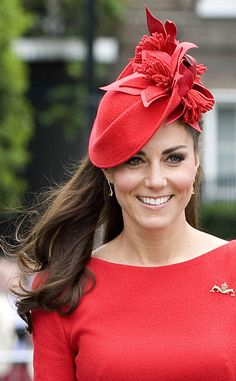 Not only has Kate mastered the half-up half-down style, but she even makes hat hair look good.