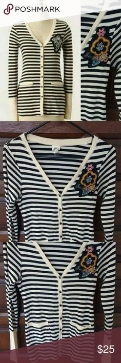 Art School Cardigan Sz P Anthropologie Excellent used condition. Marked Petite but works for a regular small or medium. Anthropologie Sweaters Cardigans