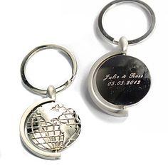 Porte-clés personnalisé - Globes (jeu de 4) – EUR € 7.26
