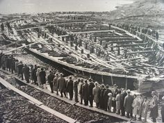 Remains of a Nemi Ship, Italy by Unknown Artist built by caligula 1st century destroyed wwii