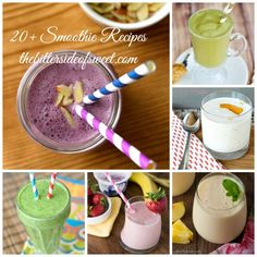 20+ Smoothie Recipes - theBitterSideofSweet