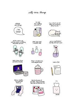 roaring-softly: self care things by tyler feder buy a print here! roaring-softly: self care things by tyler feder buy a print here! Vie Positive, Positive Thoughts, Self Care Activities, Self Improvement Tips, Self Care Routine, Coping Skills, Take Care Of Yourself, Self Help, Happy Life