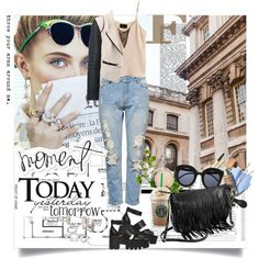 Moment by ramona-ice on Polyvore featuring Lipsy, Windsor Smith, Forever 21, Origins and Kevin O'Brien