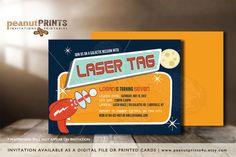 Laser Tag Birthday Party Invitation by PeanutPRINTS4u