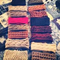 cable knit head bands