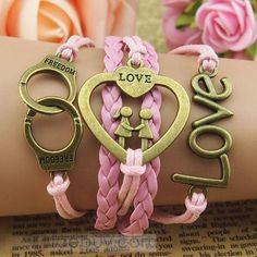 New Fashion Euramerican Retro Multilayer Heart Bracelet : Tidebuy.com
