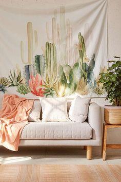Slide View: 1: Cactus Landscape Tapestry