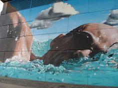 See original image Urban Street Art, 3d Street Art, Amazing Street Art, Street Art Graffiti, Street Artists, Urban Art, Pavement Art, Original Image, Beautiful Images