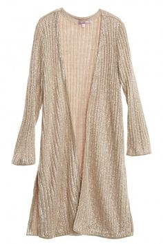 Silbe Metallic Ribbed Cardigan   | Calypso St. Barth