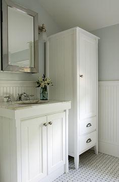 tall industrial metal bath cabinet - modern - bathroom storage