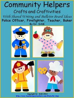 Enhance your Community Helpers unit with these adorable crafts! They can be easily turned into craftivities!These are award winning crafts that I am very proud of and happy to share with teachers and students! I received many feedbacks from customers who bought these crafts; they were all very happy with the product.