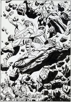 Hercules vs Thor by John Buscema