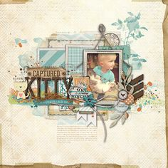 awesome layering in this #scrapbook page from Kayleigh at DesignerDigitals.com