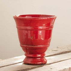 """RED CERAMIC VASE """"MEDICI"""" 100% MADE IN ITALY """"Medici"""" vase glazed with antiqued edges. Ideals for home and garden. 100% MADE IN ITALY AND HAND MADE!"""