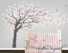 gray wall with white and pink accents