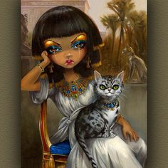 "❤ ""Sanura"" – an Egyptian princess by Jasmine Becket-Griffith"