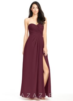I just bought 'Azazie Arabella Allure' Bridesmaid Dress in AZAZIE! Find the perfectmade-to-order bridesmaid dresses for your bridal party in your favorite color, style and fabric at Azazie! Pewter Bridesmaid Dresses, Azazie Bridesmaid Dresses, Blue Bridesmaids, Bride Dresses, Wedding Bridesmaids, Wedding Dresses, Bridal Gowns, Chiffon Dress, Strapless Dress Formal