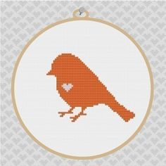 Bird Silhouette Cross Stitch PDF Pattern I by kattuna on Etsy, $3.50