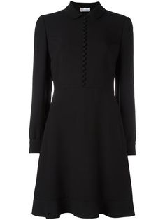 Shop Red Valentino front button flared dress.