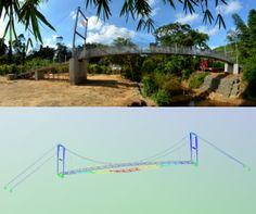 Realisiert mit Dlubal-Software: Neubau einer Hängebrücke in Sri Lanka | www.dlubal.de | #bim #cad #dlubal #dynamik #eurocode #fem #rfem #rstab #rxholz #statik #statiksoftware #tragwerksplanung