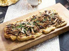 Get Tia Mowry's Grilled Mushroom Flatbread Recipe .. **Have to make the garlic confit!