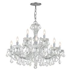 Crystorama Maria Theresa 4479 12 Light Chandelier Clear Swarovski Spectra Crystal - 4479-CH-CL-SAQ