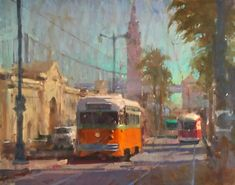 Art videos by randall sexton. painting street scenes and cityscapes in oils. the challenges of painting complex scenes, cityscapes, or vehicles demystified. Art Journal Pages, Girl Faces, Classical Realism, Building Art, Traditional Paintings, Urban Landscape, Landscape Paintings, Art Paintings, Painting Techniques