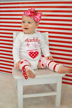 Baby Girl Valentine Outfit  Daddy's Girl  by DarlingLittleBowShop, $49.95