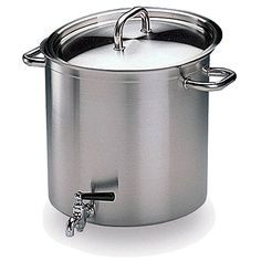 Matfer Bourgeat Excellence Stock Pot With Lid And Faucet 38 Qt Stainless Steel 694232 >>> Click image for more details.
