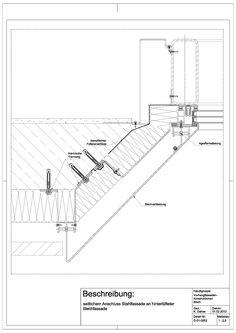 D-01-0002 seitlicher AnschlussStahlfassade an einer hinterlüfteten Blechfassade