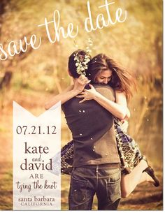 Cute save the date for using an engagement photo
