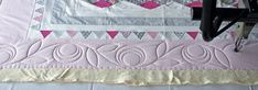 Quilting in the border — Stitched in Color Longarm Quilting, Free Motion Quilting, Machine Quilting, Irish Chain Quilt, Quilt Border, Diamond Quilt, Soft And Gentle, Custom Quilts, Quilting Designs