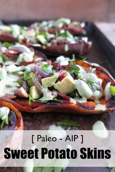 Stuffed Sweet Potato Skins (paleo, AIP) - A Squirrel in the Kitchen