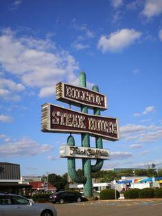 Hilltop Steak House - Famous hilltop sign, August 2013 - Saugus, MA