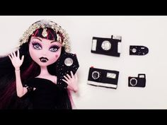 How to Make a Doll Camera - Doll Crafts - YouTube