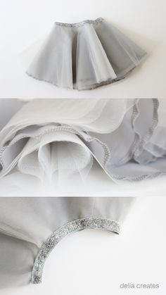 delia creates: Gray Day Tulle Skirts