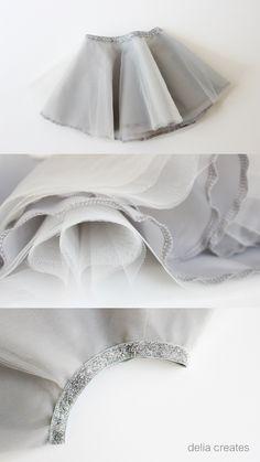 delia creates: Gray Day Tulle Skirts