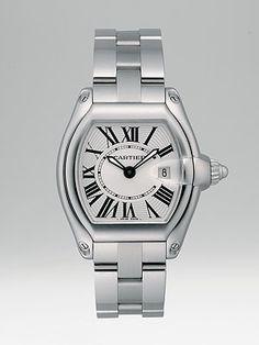 Cartier Roadster Stainless Steel Watch on Bracelet/Interchangeable Strap, Small   $5,400.00